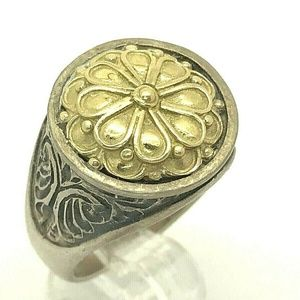 Konstantino Sterling Silver & 18k Gold Ring